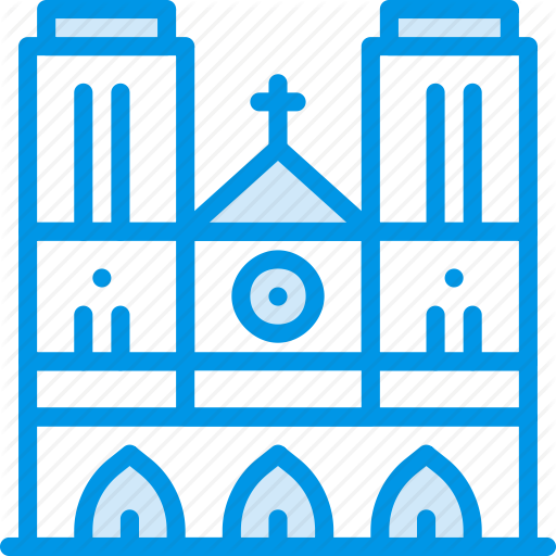 Big, Building, Cathedral, Dame, Monument, Notre, Webby Icon