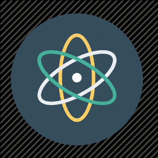 Atom, Atom Model, Atomic Nucleus, Electron, Proton Icon