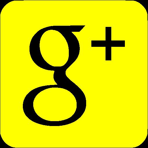 Yellow Google Plus Icon