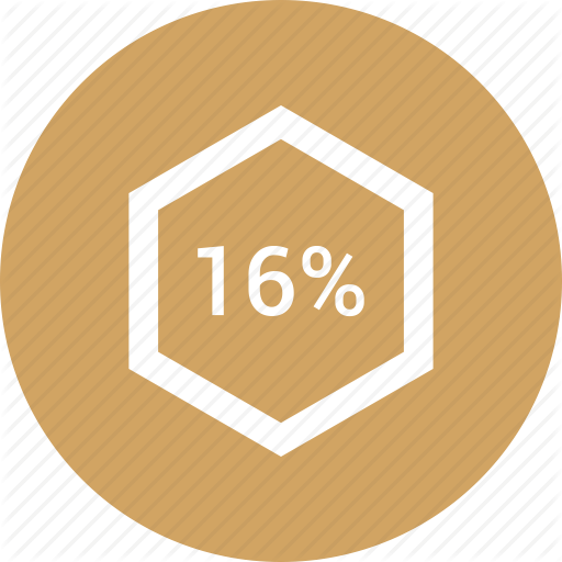 Chart, Count, Number, Percent, Sixteen Icon