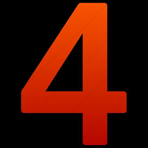 Simple Red Gradient Alphanumerics Number Icon