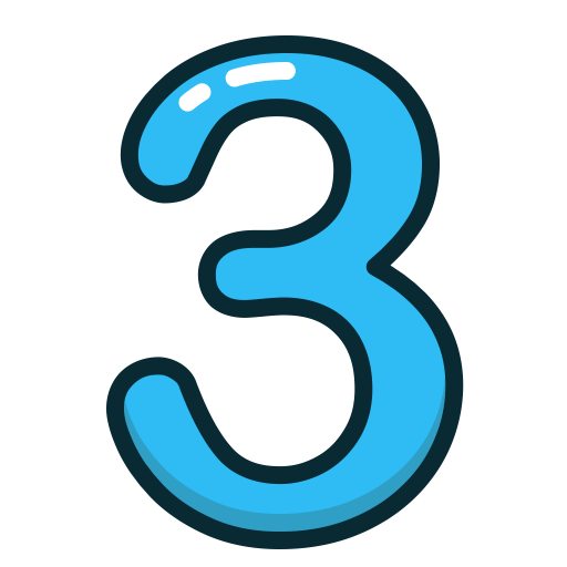 Blue, Number, Numbers, Study, Three Icon
