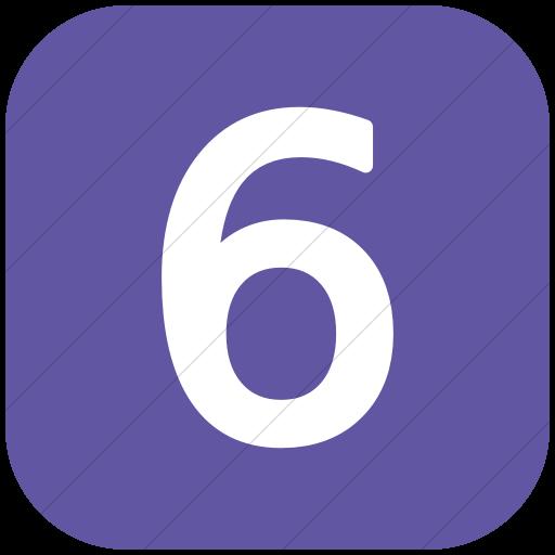 Flat Rounded Square White On Purple Alphanumerics