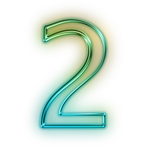 Neon Numbers Transparent Png Clipart Free Download