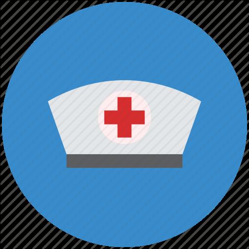 Health, Medical, Nurse, Nurse Cap, Nurse Hat Icon