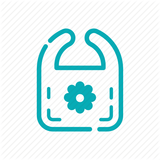 Baby, Bibs, Icon, Nursery, Outline Icon