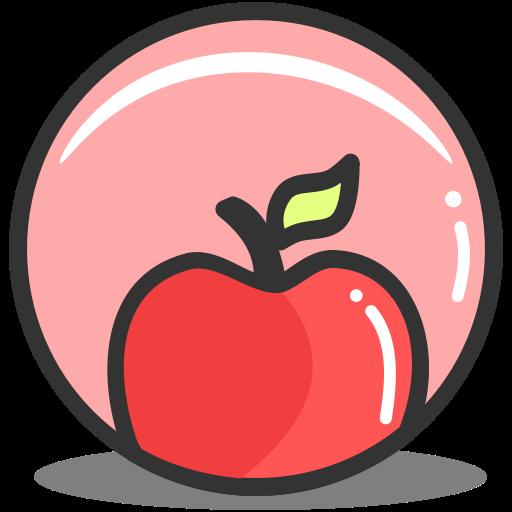 Apple, Education, Fitness, Food, Health, Nutrition Icon