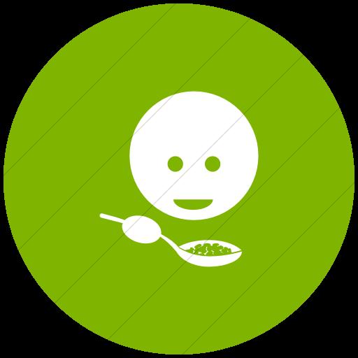 Flat Circle White On Green Ocha Humanitarians Cluster
