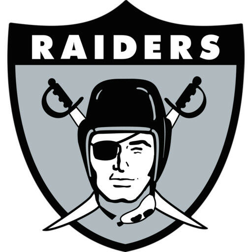 Oakland Raiders Vinyl Decal Sticker Silver Or White