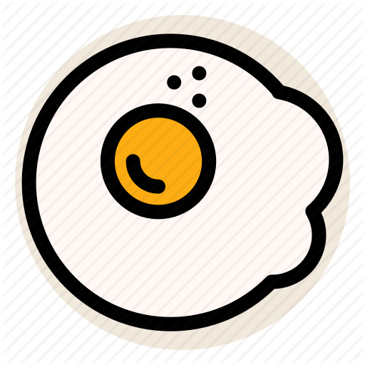 Breakfast, Egg, Egg White, Egg Yolk, Fried Egg Icon