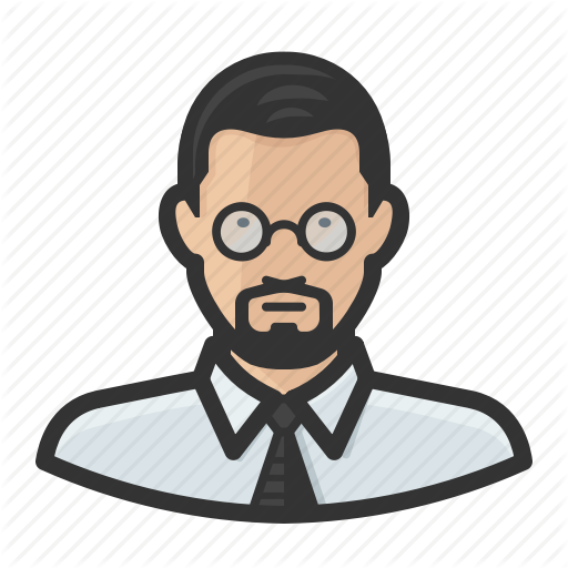 Asian, Avatar, Glasses, Male, Man, Tie Icon