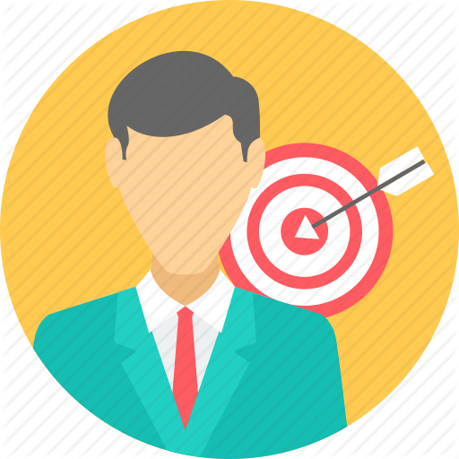 Achieve, Focus, Goal, Motive, Objective, Purpose, Target Icon
