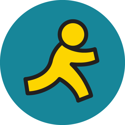 Aim Icon Basic Round Social Iconset S Icons