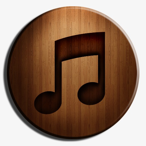 Wooden Music Icon, Music Clipart, Music, Retro Png Image