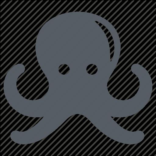 Animal, Food, Octopus, Sea, Seafood, Squid Icon
