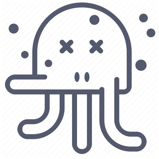 Character, Creature, Dead, Mascot, Octopus Icon