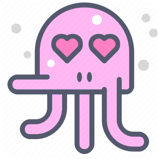 Character, Creature, Inloved, Mascot, Octopus Icon