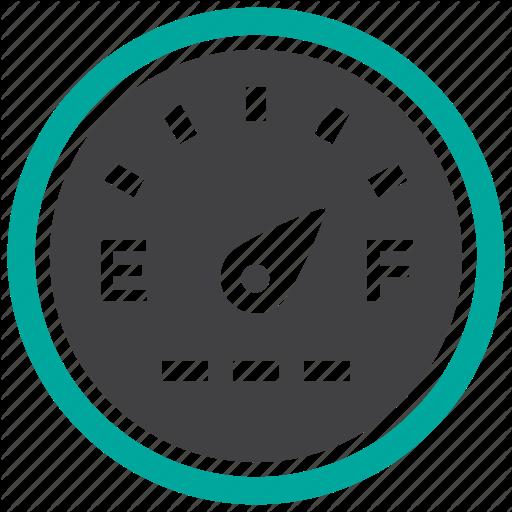 Fuel, Gas, Gauge, Odometer Icon