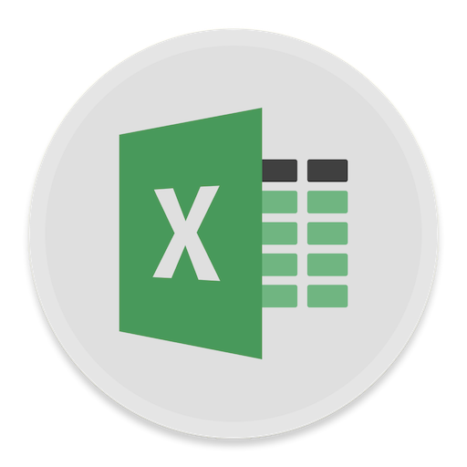 Excel Icon Button Ui Ms Office Iconset Blackvariant