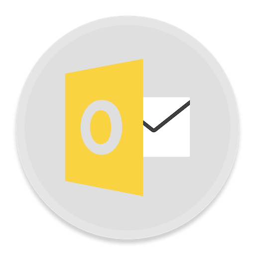 Outlook Icon Button Ui Ms Office Iconset Blackvariant