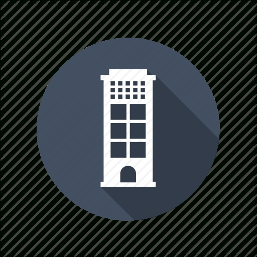 Flat Office Building Icon Furniture Walpaper