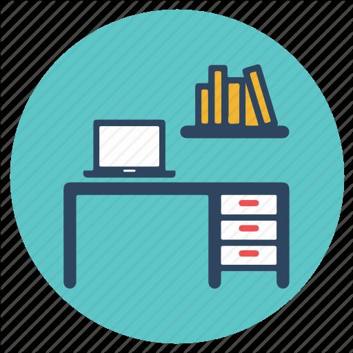 Cabin, Office, Office Cabin, Shelf, Table Icon