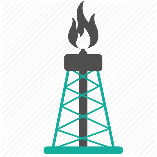 Derrick, Energy, Fire, Fuel, Gusher, Industry, Oil, Rig, Well Icon
