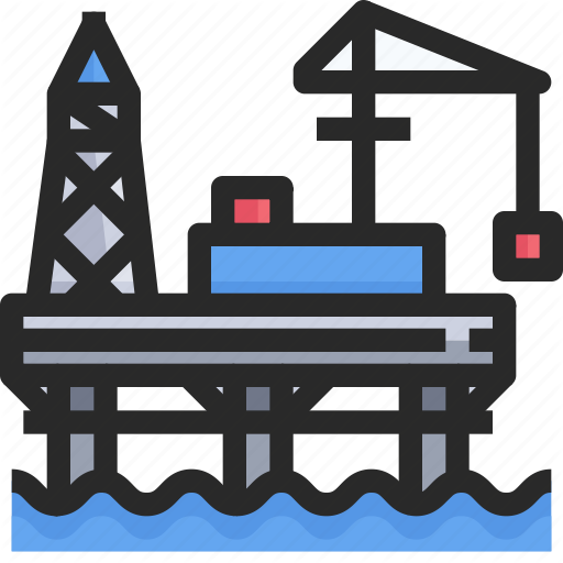 Industry, Oil, Power, Rig Icon