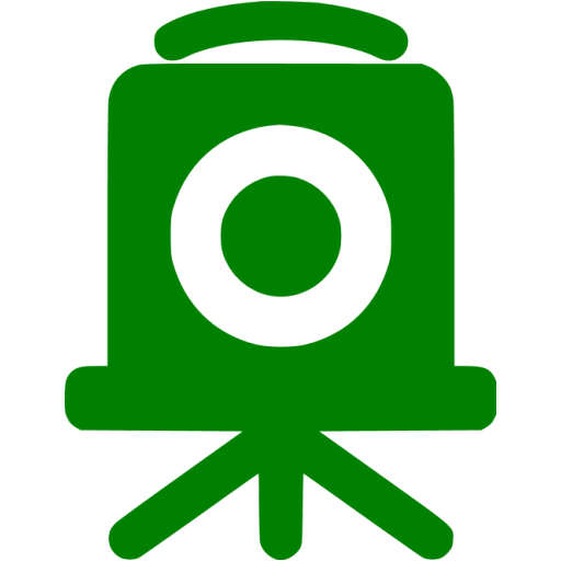 Green Old Time Camera Icon