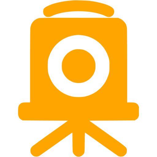 Orange Old Time Camera Icon