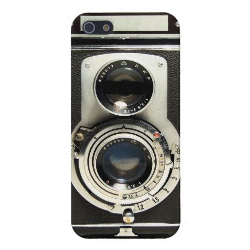 Vintage Camera Rolleiflex Iphone Case Vintage, Leather