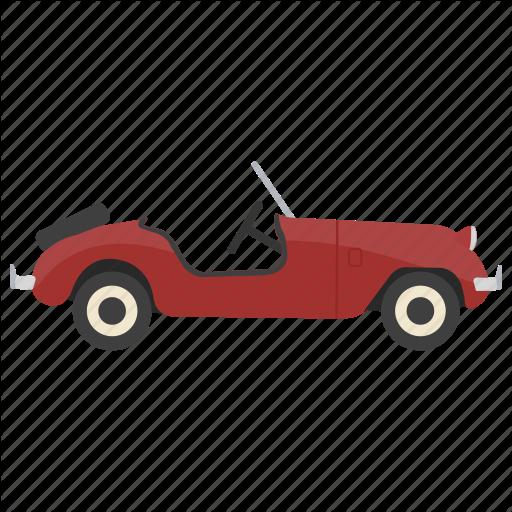 Antique Car, Old Automobile, Old Car, Retro Car, Vintage Car Icon