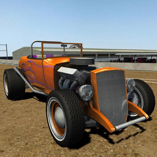 Classic Roadster Car Dirt Racing