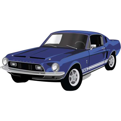 Muscle Car Mustang Gt Icon Classic American Cars Iconset Caleb