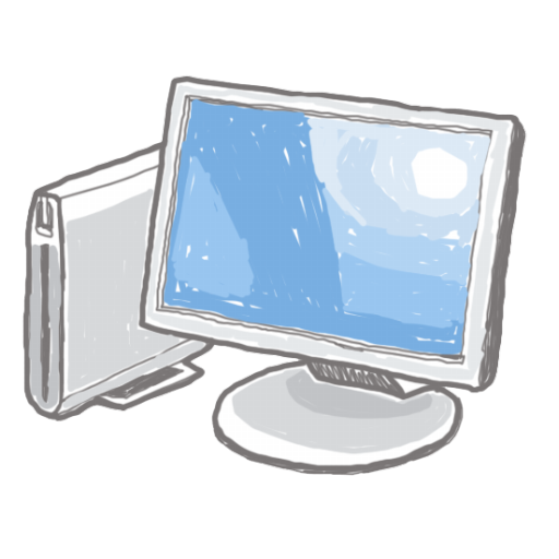 Computer Icon Digitally Painted Iconset