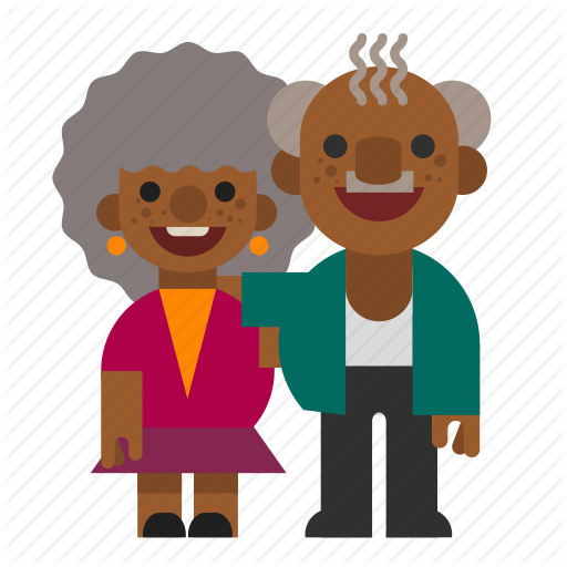 Black, Couple, Grandma, Grandpa, Grandparents, Old, People Icon