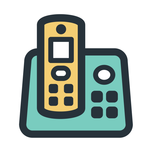 Landline, Old Phone, Phone Icon With Png And Vector Format