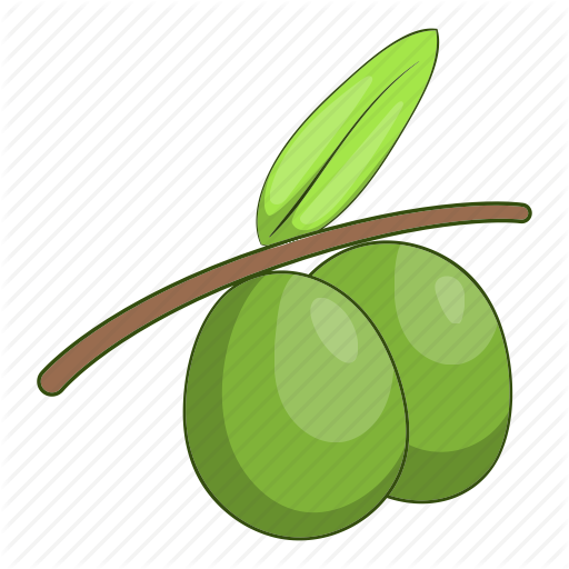 Branch, Cartoon, Fruit, Green, Healthy, Olive, Organic Icon