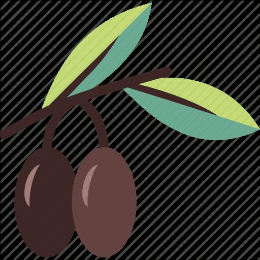 Branch, Fruit, Olive, Olives Icon