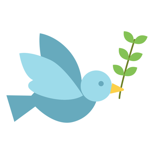 Dove With Olive Branch Icon