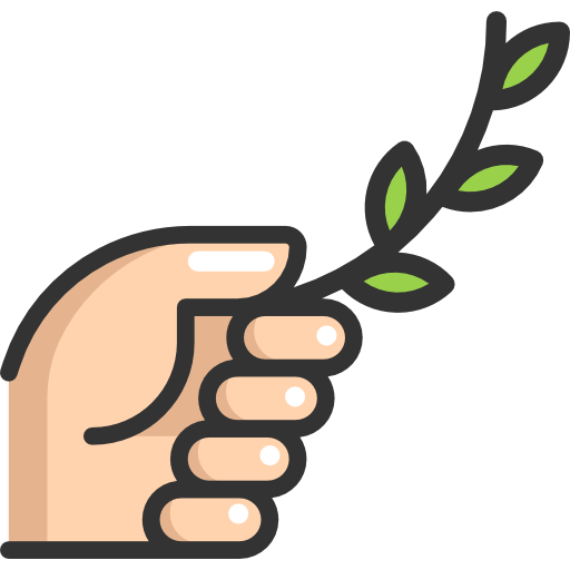 Hand, Branch, Olive, Nature, Peace, Gesture Icon