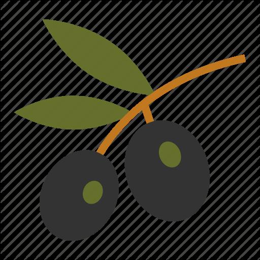 Olive, Olive Branch, Olive Oil, Olives, Plant, Ripe Olives Icon