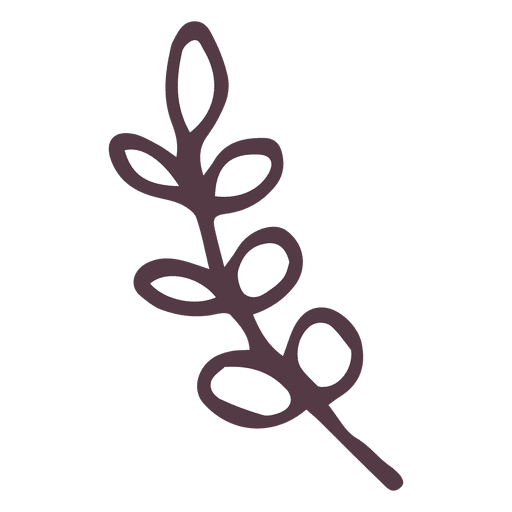 Olive Branch Hand Drawn Icon Illustration