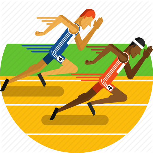Sports, Running, Yellow, Transparent Png Image Clipart Free Download