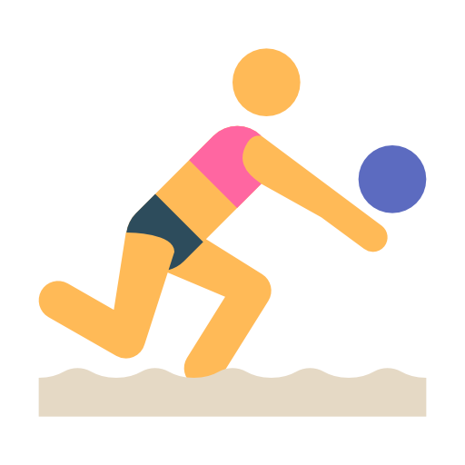 Beach, Volleyball, Sport, Olympic Icon Free Of Freebie Olympic