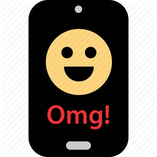Face, Happy, Message, Omg, Phone, Sms, Text Icon