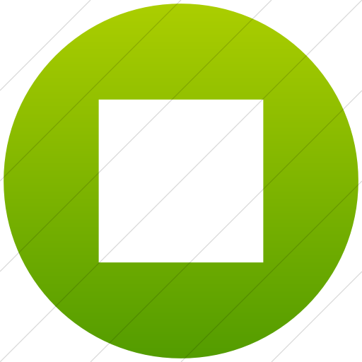 Flat Circle White On Green Gradient Classica Stop