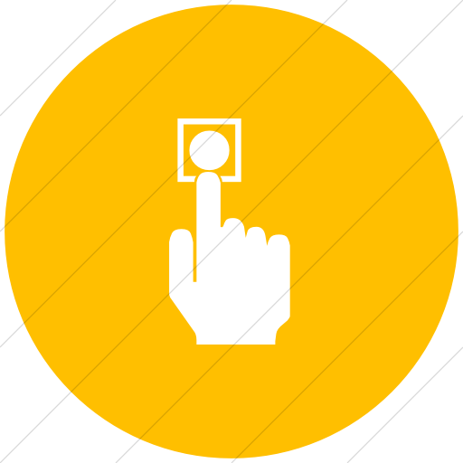 Flat Circle White On Yellow Classica Press Power