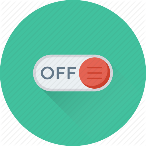 Off, Off Button, Power, Slider, Toggle Button Icon