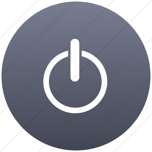 Flat Circle White On Blue Gray Gradient Classica Power
